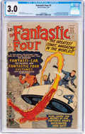 Silver Age (1956-1969):Superhero, Fantastic Four #3 (Marvel, 1962) CGC GD/VG 3.0 Off-white pages....
