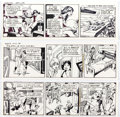 Gil Kane Starhawks Daily Comic Strip Original Art Group of 3 (United Feature Syn Comic Art