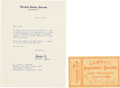 Autographs:Statesmen, Robert F. Kennedy Typed Letter Signed ...