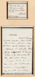Autographs:U.S. Presidents, Abraham Lincoln Autograph Note Signed ...