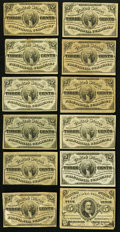 Fractional Currency:Third Issue, Eleven Fr. 1226 3¢ Third Issue Notes Fine or Better;. Fr. 1238 5¢ Third Issue Fine-Very Fine.. ... (Total: 12 notes)