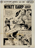 Original Comic Art:Splash Pages, Dick Ayers Gunsmoke Western #49 Wyatt Earp Splash Original Art(Marvel, 1958)....