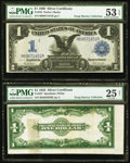 Error Notes:Large Size Errors, Fr. 237 $1 1923 Silver Certificate PMG Very Fine 25 Net;. Late Serial Number Print Run Fr. 232 $1 1899 Silver Certificate ... (Total: 2 notes)