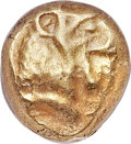Ancients:Greek, Ancients: LYDIAN KINGDOM. Alyattes - Croesus (ca. 610-546 BC). ELsixth stater or hecte (9mm, 2.41 gm). NGC XF 4/5 - 5/5....