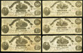 Confederate Notes:1861 Issues, T14 $50 1861 Nine Examples.. ... (Total: 9 notes)