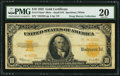 Large Size:Gold Certificates, Fr. 1173am* $10 1922 Mule Gold Certificate PMG Very Fine 20.. ...