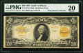 Large Size:Gold Certificates, Fr. 1187m* $20 1922 Mule Gold Certificate PMG Very Fine 20.. ...