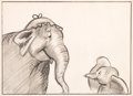 Animation Art:Production Drawing, Dumbo Mrs. Jumbo and Baby Dumbo Storyboard (Walt Disney,1941)....