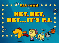"Pac-Man ""Hey, Hey, Hey... It's P.J."" Title Cel Setup (Hanna-Barbera, 1982)"