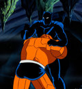 Animation Art:Production Cel, Fantastic Four Black Panther and the Thing Production Celwith Painted Background and Animation Drawing...