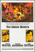 "Movie Posters:War, The Green Berets (Warner Brothers, 1968). One Sheet (27"" X 41"")Frank McCarthy Artwork. War.. ..."