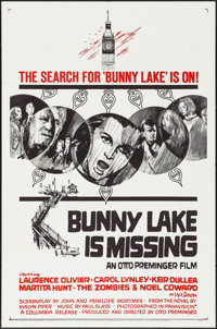 """Bunny Lake is Missing (Columbia, 1965). Folded, Very Fine. One Sheet (27"""" X 41"""") Style B. Mystery"""