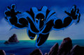 Animation Art:Production Cel, Fantastic Four Black Panther Production Cel with PaintedBackground and Animation Drawing (Marvel Studios, 1995).. ...(Total: 3 Items)