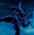 Animation Art:Production Cel, Fantastic Four Black Panther Production Cel with Painted PanBackground and Animation Drawing (Marvel S...