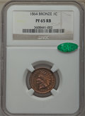Proof Indian Cents, 1864 1C Bronze No L PR65 Red and Brown NGC. CAC....