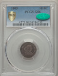 Early Half Dimes, 1805 H10C V-1, LM-1, R.4, Good 6 PCGS Secure. CAC....