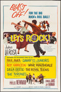 "Movie Posters:Rock and Roll, Let's Rock (Columbia, 1958). One Sheet (27"" X 41""). Rock and Roll....."