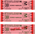 Music Memorabilia:Tickets, Beatles - Group of Three George Harrison Chicago Stadium UnusedConcert Tickets (1974)....