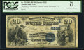 National Bank Notes:Pennsylvania, Pittsburgh, PA - $20 1882 Date Back Fr. 555 The Bank of Pittsburgh,National Assoc Ch. # (E)5225. ...