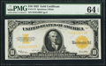 Large Size:Gold Certificates, Fr. 1173 $10 1922 Gold Certificate PMG Choice Uncirculated 64 EPQ.....