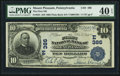 National Bank Notes:Pennsylvania, Mount Pleasant, PA - $10 1902 Plain Back Fr. 624 The First NB Ch. #(E)386. ...