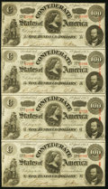 Confederate Notes, T56 $100 1863 PF-1 Cr. 403 Reconstructed Sheet.. ...