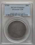 Early Half Dollars, 1795 50C 2 Leaves, O-130, T-8, Low R.5, -- Damage -- PCGS Genuine....