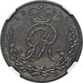 Gold Coast, Gold Coast: British Outpost bronze-plated copper Pattern Proof Ackey 1796 PR61 Brown NGC,...