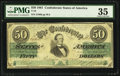 Confederate Notes:1861 Issues, T-16 $50 1861 PF-1 Cr. 80.. ...