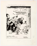 Original Comic Art:Illustrations, Cliff Sterrett Polly and Her Pals - Washington and Lee University 200th Anniversary Publication Illustration Origi...