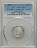 Bust Dimes, 1828 10C Small Date, Square Base 2, -- Harshly Cleaned -- PCGSGenuine. XF Details. PCGS Population: (14...
