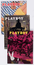 Magazines:Miscellaneous, Playboy Group of 6 (HMH Publishing, 1954-56) Condition: AverageVG-.... (Total: 6 Items)
