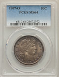 Barber Half Dollars: , 1907-O 50C MS64 PCGS. PCGS Population: (42/21). NGC Census: (44/24). MS64. Mintage 3,946,600. ...