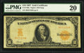 Large Size:Gold Certificates, Fr. 1169 $10 1907 Gold Certificate PMG Very Fine 20.. ...