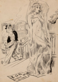 James Montgomery Flagg (American, 1877-1960) FOB Virgin Islands Ink on paper 22 x 16 in. (sheet)<