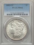 1882-CC $1 MS62 PCGS. PCGS Population: (2858/29766). NGC Census: (1809/14882). CDN: $190 Whsle. Bid for problem-free NGC...