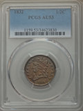 Half Cents, 1832 1/2 C AU53 PCGS. PCGS Population: (56/376). NGC Census:(25/260). Mintage 154,000. . From the E.B. Strickland Col...
