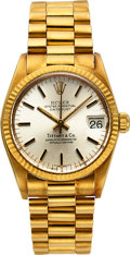 Timepieces:Wristwatch, Rolex Ref. 6800 18k Yellow Gold Mid-Size For Tiffany & Co., circa 1980. ...