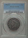 Large Cents, 1823/2 1C VG10 PCGS. PCGS Population: (27/104). Mintage 1,262,000. . From the E.B. Strickland Colle...