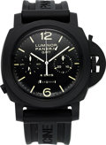 Timepieces:Wristwatch, Panerai Luminor 1950 Chrono Monopulsante 8 Days GMT Ceramica OP 6885 P325/400. ...