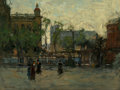 Fine Art - Painting, American, Paul Cornoyer (American, 1864-1923). Early Evening, Empire Park,New York, circa 1910. Oil on canvas. 18-1/4 x 24 inches...