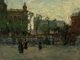 Paul Cornoyer (American, 1864-1923) Early Evening, Empire Park, New York, circa 1910 Oil on canvas 18-1/4 x 24 inches