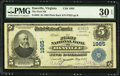 National Bank Notes:Virginia, Danville, VA - $5 1902 Plain Back Fr. 602 The First NB Ch. # 1985....