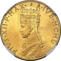 Vatican City, Vatican City: Pius XII gold 100 Lire MCML (1950) MS67 NGC,...