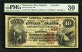 National Bank Notes:West Virginia, Charleston, WV - $10 1882 Brown Back Fr. 485 The Kanawha NB Ch. #(S)4667. ...