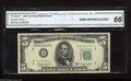 Small Size:Federal Reserve Notes, Fr. 1965-B* $5 1950D Federal Reserve Star Note. CGA Gem Uncirculated 66. There is not much to dislike about this beauty hou...