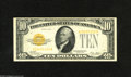 Small Size:Gold Certificates, Fr. 2400 $10 1928 Gold Certificate. About New. A single light off center fold is found on this well inked and lightly toned...