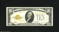 Small Size:Gold Certificates, Fr. 2400 $10 1928 Gold Certificate. Very Fine-Extremely Fine. A moderately circulated gold certificate which is a little fl...