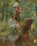 Fine Art - Painting, American, Adam Emory Albright (American, 1862-1957). In the Woods,1916. Oil on canvas. 30-1/2 x 24 inches (77.5 x 61.0 cm). Signe...