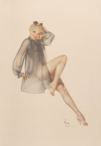 After Alberto Vargas (American, 1896-1982) Sleepy Time Gal Print 37 x 26 in. (sheet) Ed. 49/50